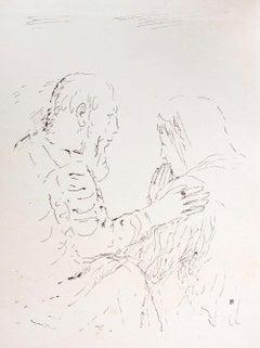 Prayer - Original Lithograph by Pierre Bonnard - 1930