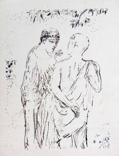 Walk - Original Lithograph by Pierre Bonnard - 1930