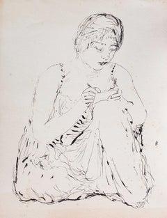 Writer - Original Lithograph by Pierre Bonnard - 1930