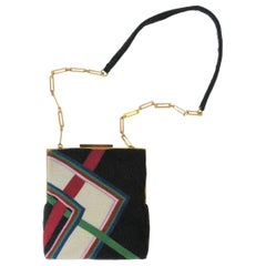 Pierre Cardin '70s Modern Beaded Handbag