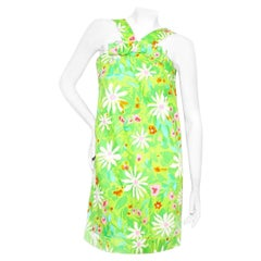 Pierre Cardin A-Line Floral Dress Circa 1960's