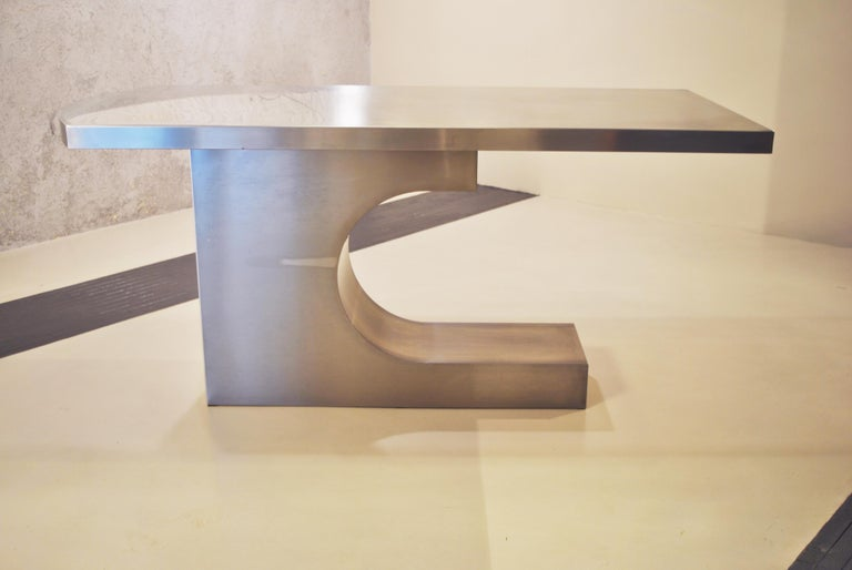 French Pierre Cardin after Sculpture Table 1971  For Sale