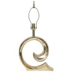 Pierre Cardin Brass Swoosh Table Lamp