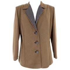 Pierre Cardin Brown Wool Classic Jacket