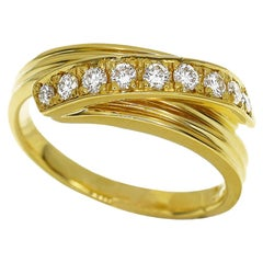 Pierre Cardin Diamond Ring 18 Karat Yellow Gold