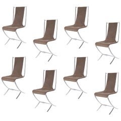 Pierre Cardin for Maison Jansen, a Set of Eight Chairs, 1970s