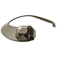 PIERRE CARDIN Futuristic Modernist Plexiglas Cabochon Rigid Collar Choker