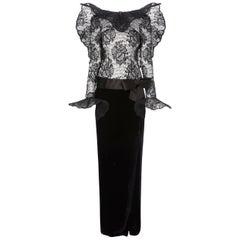 Pierre Cardin Haute couture, black gown, Autumn/Winter 1989