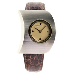 Pierre Cardin Jaeger Le Coultre Stainless Steel Yellow Gold Moderne Watch