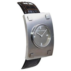 Pierre Cardin Jaeger-LeCoultre Movement Stainless Steel Moderne Style Watch