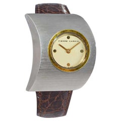 Pierre Cardin Jaeger-LeCoultre Stainless Steel Yellow Gold Moderne Watch
