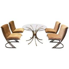 Pierre Cardin Midcentury Chrome Dining Set