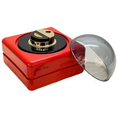 Pierre Cardin Midcentury Red Plastic and Plexiglass French Table Lighter, 1970