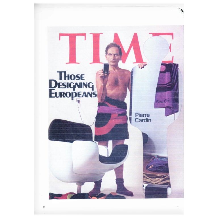 An iconic silhouette mirror designed by Claudio Platania for Pierre Cardin circa 1970. The 'Narciso' mirror sits upright within a concrete block base and was produced by Nuova Linea Acerbis. The mirror was also featured on the cover of Time Magazine