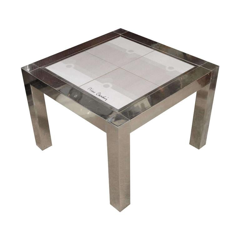 Pierre Cardin Occasional Side Table with Ceramic Top