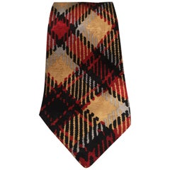 Pierre Cardin red multicoloured silk tie