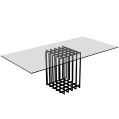 Pierre Cardin Sculptural Table in Glass and Metal