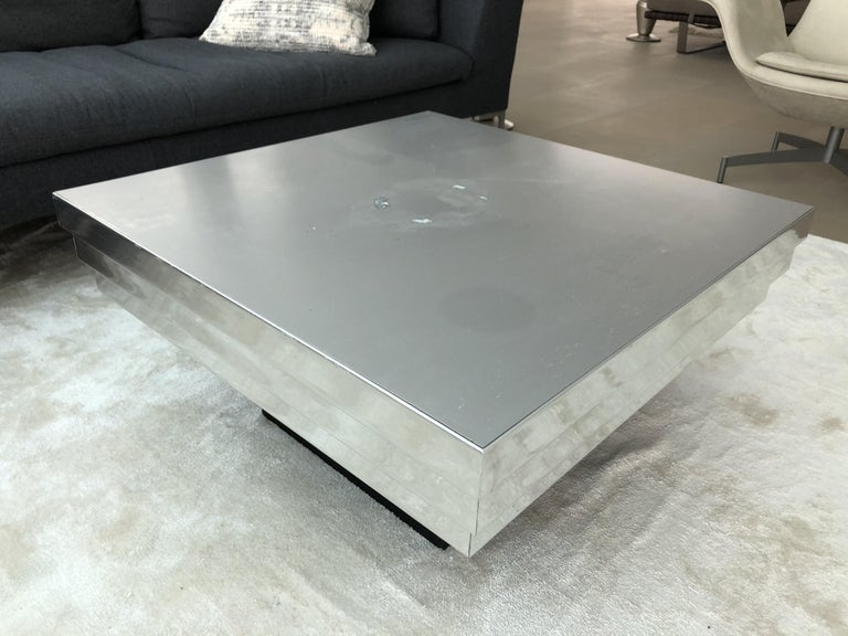 Pierre Cardin Side Table with a Graduated Aluminum Top For Sale 4