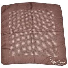 Pierre Cardin Signature Coco & Cream Silk Handkerchief