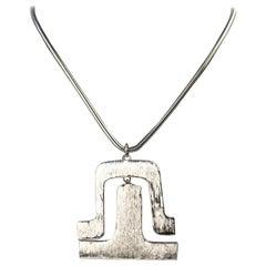 Pierre Cardin Silver Metal Necklace
