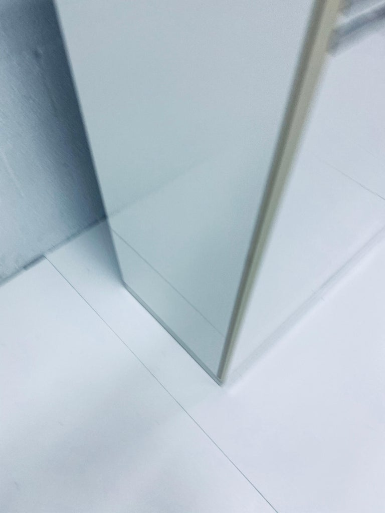 Pierre Cardin White Veneer and Chrome Highboy Dresser for Dillingham For Sale 8