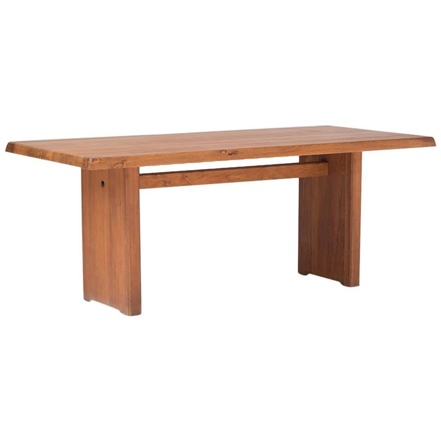 """Pierre Chapo """"T14C"""" Dining Table with """"D08"""" Extensions, circa 1964"""