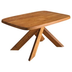 Pierre Chapo 'Aban' Table T35B in Solid Elm