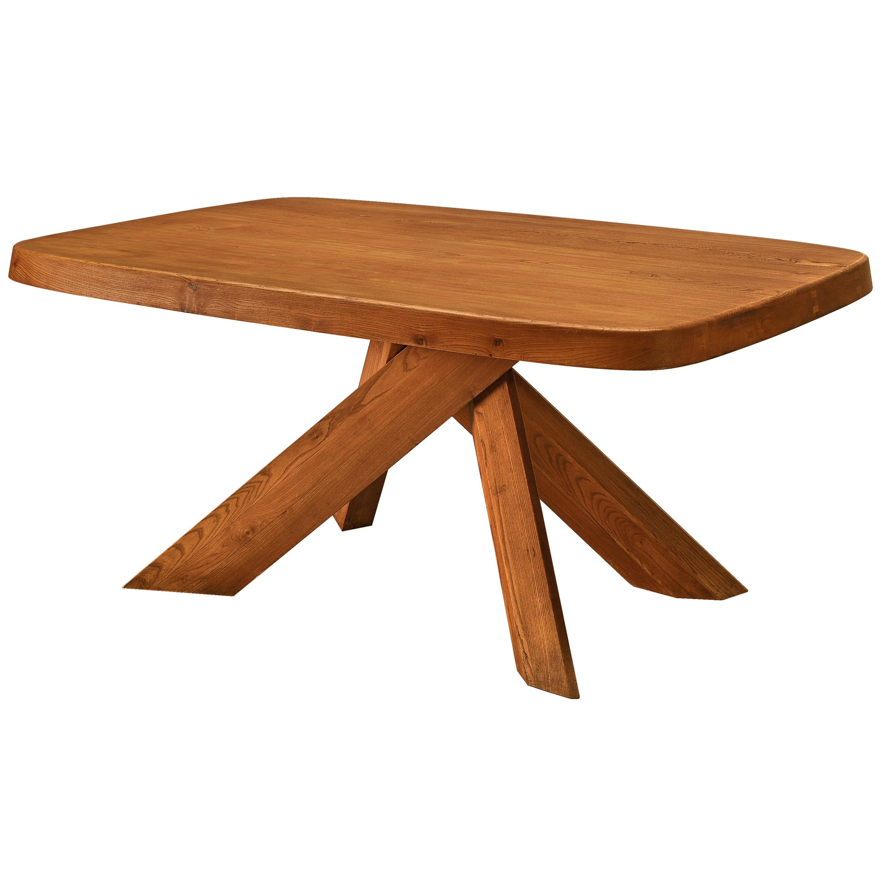 Pierre Chapo 'Aban' Table T35BC in Solid Elm
