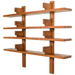 Pierre Chapo B17 Book Shelve in Solid French Elm, 1960