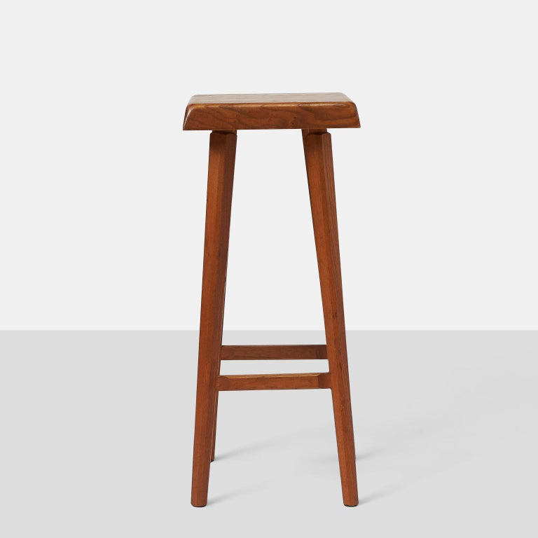 French Pierre Chapo Barstools For Sale