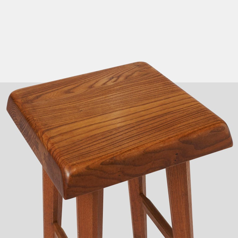 Pierre Chapo Barstools In Excellent Condition For Sale In San Francisco, CA