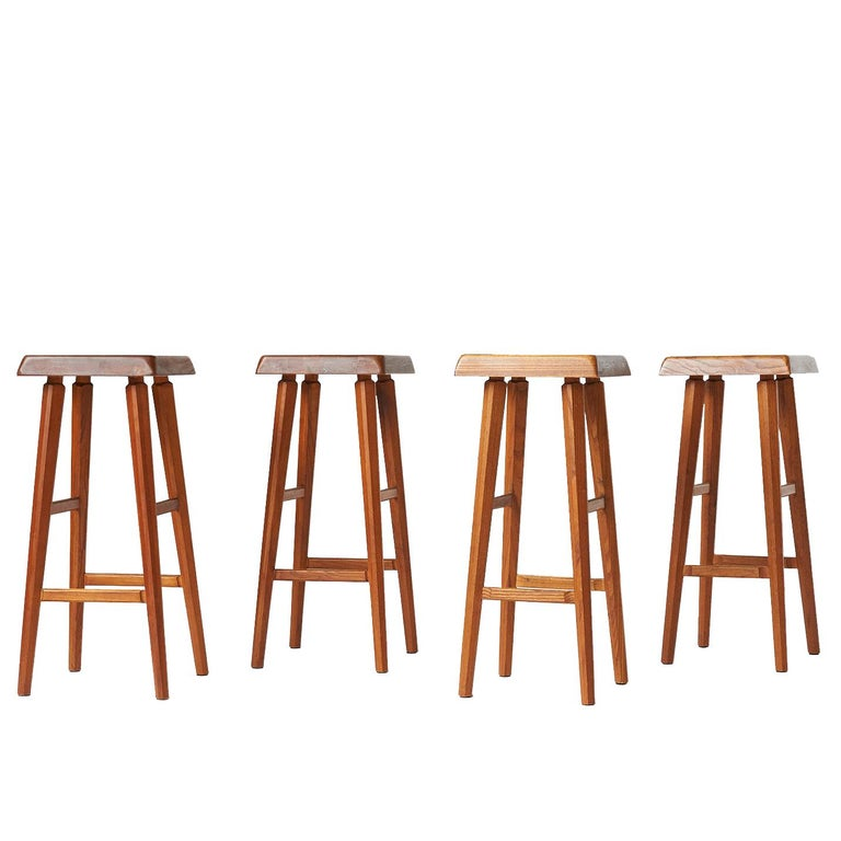 Pierre Chapo Barstools For Sale