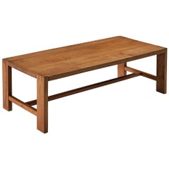 Pierre Chapo Coffee Table 'T06A' in Solid Elm