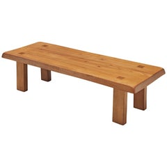 Pierre Chapo Coffee Table 'T08' in Solid Elm