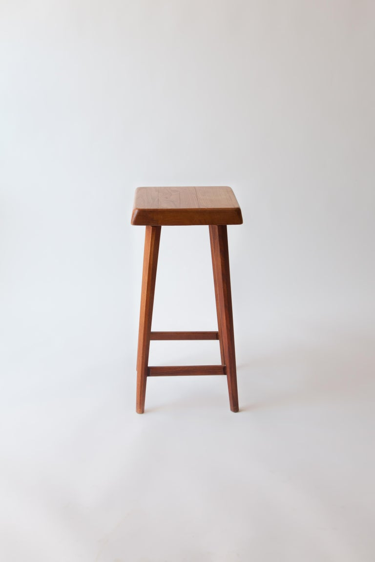 Mid-Century Modern Pierre Chapo Counter Stool For Sale
