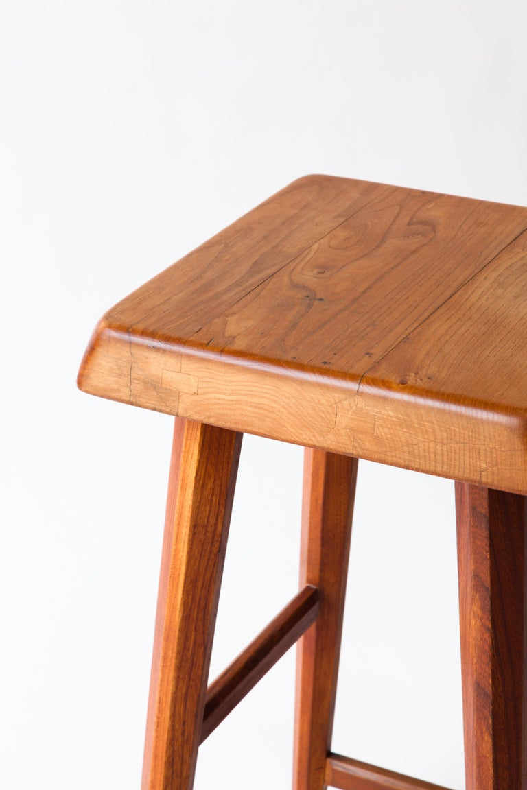 French Pierre Chapo Counter Stool For Sale