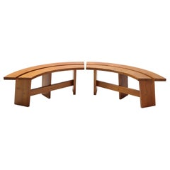 Pierre Chapo Curved Benches in French Elm