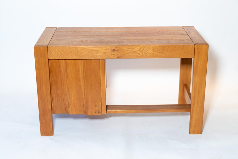 Pierre Chapo Wood Desk, circa 1970s For Sale 1