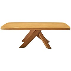 Pierre Chapo Dining Table Aban T35D in Solid Elm