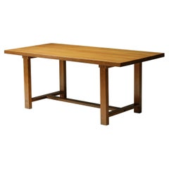 Pierre Chapo Dining Table, French Mid-Century Design, T01D