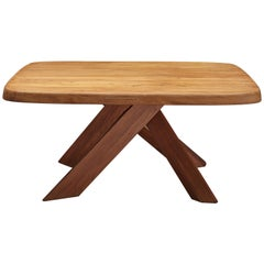 Pierre Chapo Dining Table Model T35C in Solid Elm