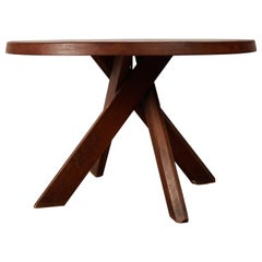 Pierre Chapo Dining Table T21 Sfax, French Solid Elm, France, 1970