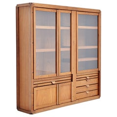 Pierre Chapo Display Cabinet in Elm France, 1960