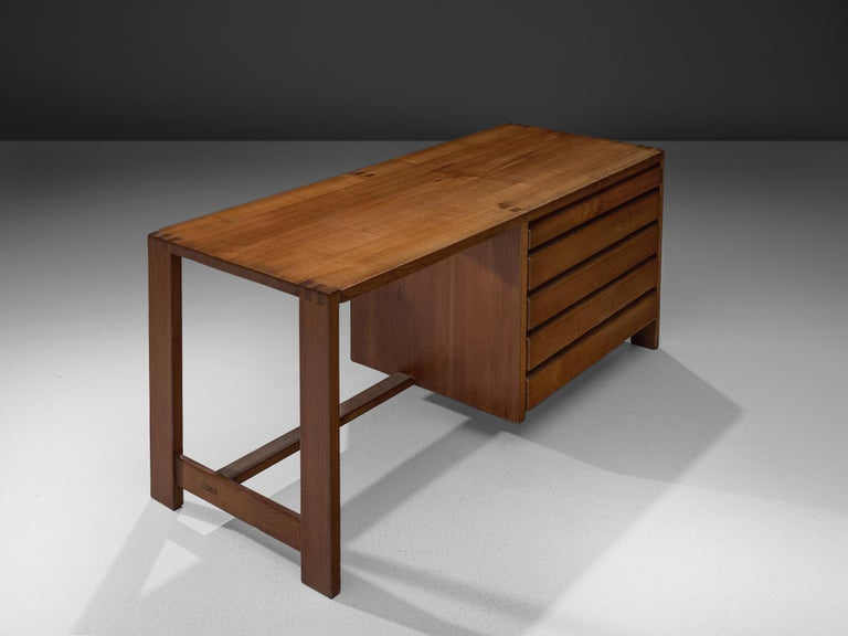 Mid-20th Century Pierre Chapo Dressing Table with Drawers in Solid Elm For Sale