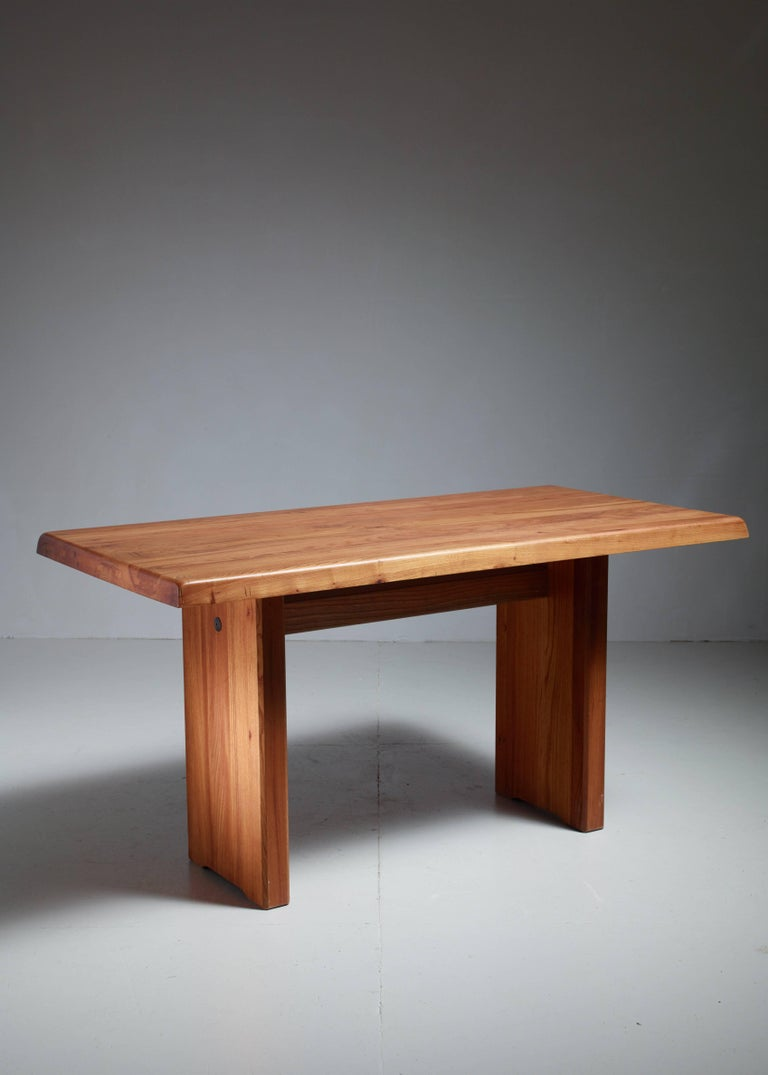 Pierre Chapo. The solid elm has a beautiful warm color and is in a great condition. The table has the wonderful connections that Chapo's works is known for.