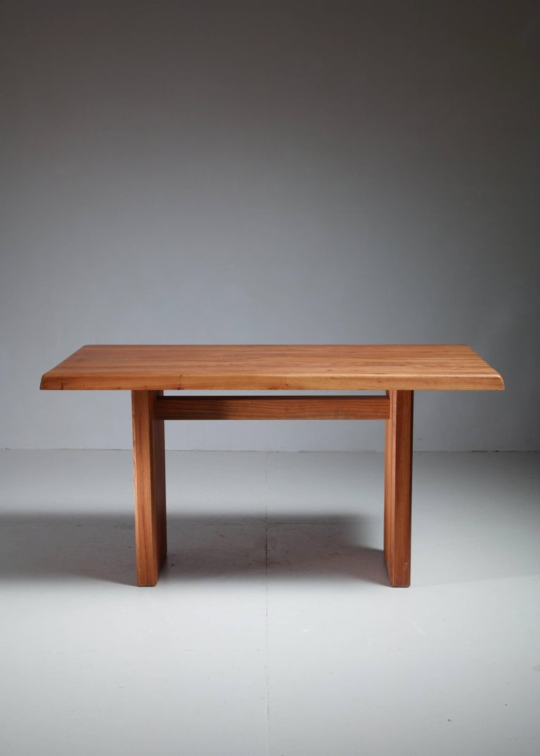 Mid-Century Modern Pierre Chapo Elm Dining Table, France, 1960s For Sale