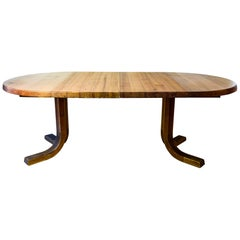 Pierre Chapo, Extensible Dining Table, Model D40, circa 1970, France
