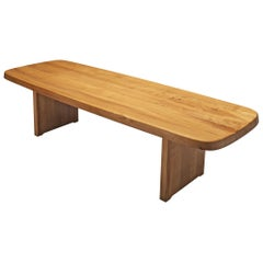 Pierre Chapo Large Dining Table T20B in Solid Elm