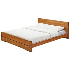 Pierre Chapo 'Louis' Bed in Solid Elm
