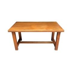 "Pierre Chapo Massive elm Table ""Model T01"", 1975"